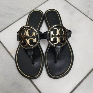 Tory burch miller metal logo sandals